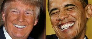 Donald Trump Zähne gegen Obama Zähne