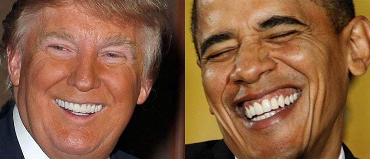 donald trump zahne obama zahne